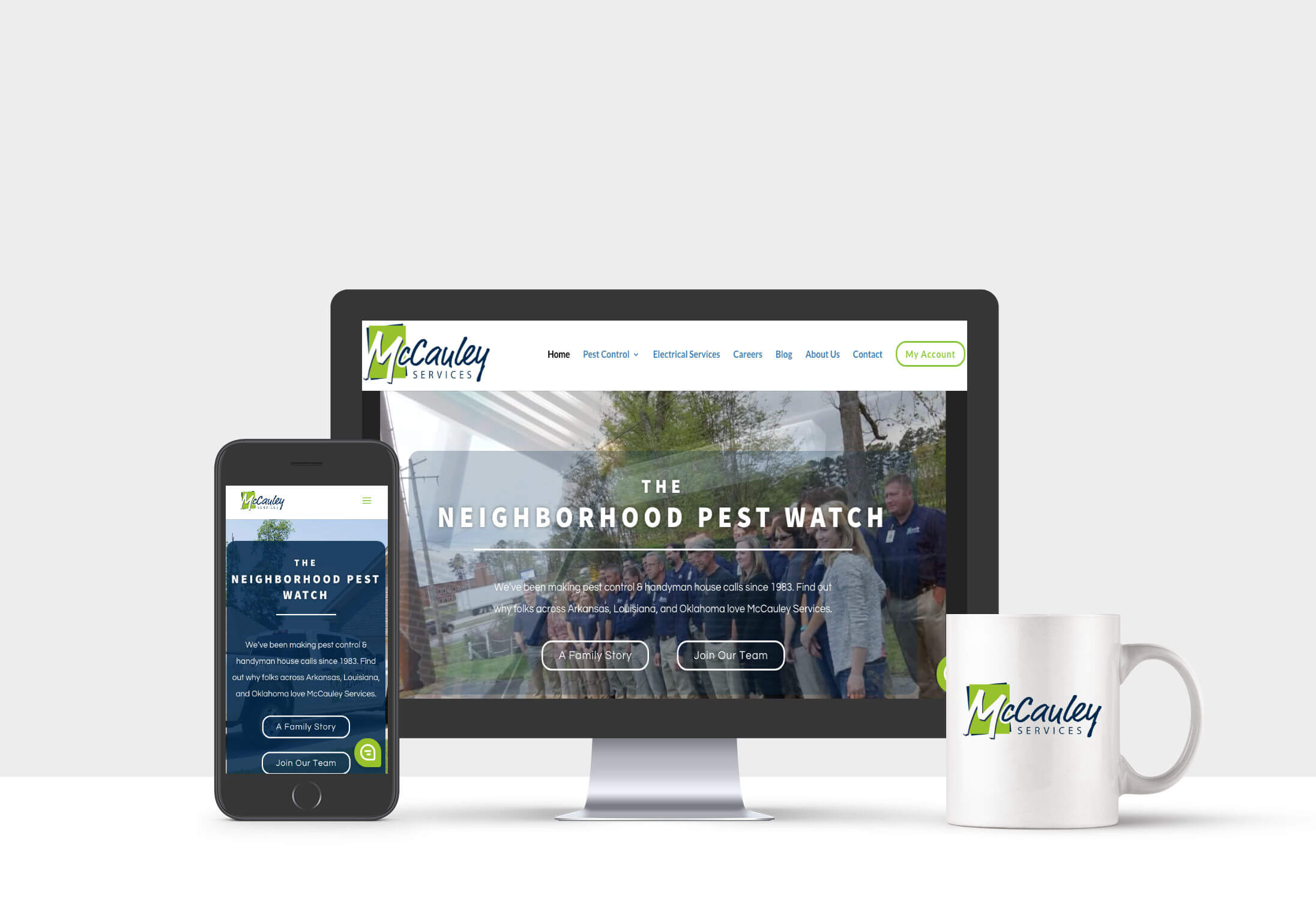 McCauley Services web design